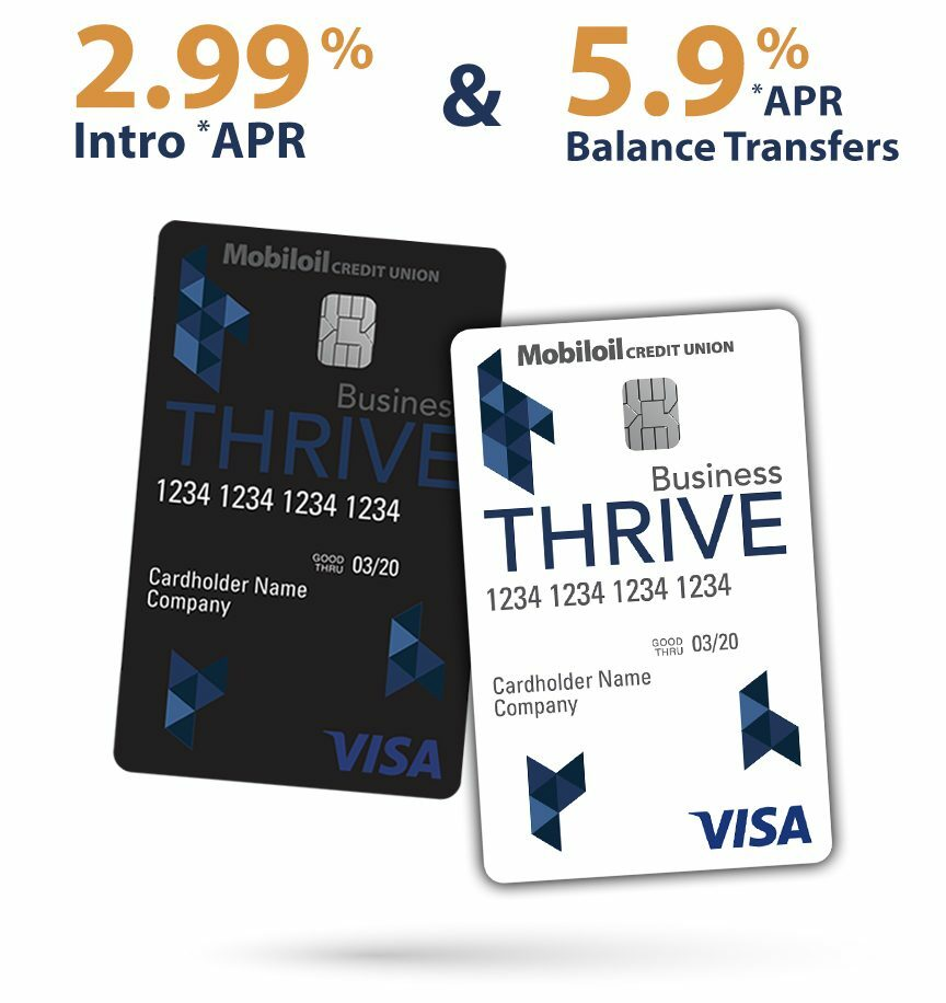 White and Black business thrive credit cards